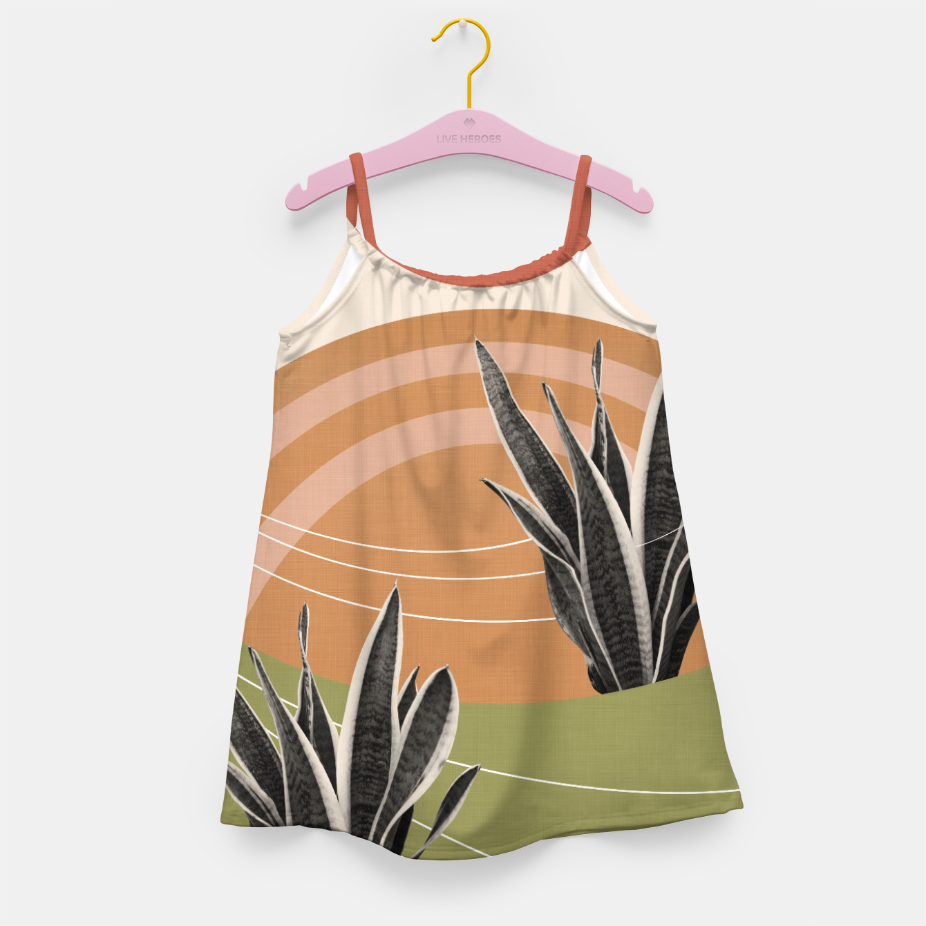 Image of Snake Plant in the Desert #1 #tropical #wall #art  Mädchenkleid - Live Heroes