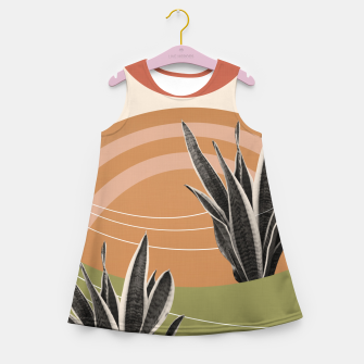 Thumbnail image of Snake Plant in the Desert #1 #tropical #wall #art  Mädchen-Sommerkleid, Live Heroes