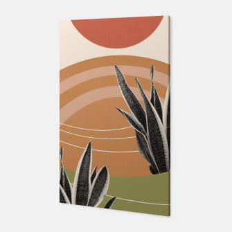 Thumbnail image of Snake Plant in the Desert #1 #tropical #wall #art  Canvas, Live Heroes