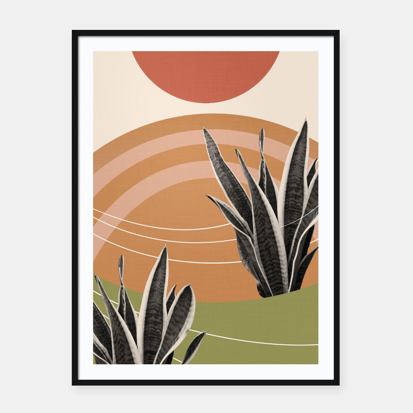 Image of Snake Plant in the Desert #1 #tropical #wall #art  Plakat mit rahmen - Live Heroes