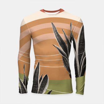 Thumbnail image of Snake Plant in the Desert #1 #tropical #wall #art  Longsleeve rashguard, Live Heroes
