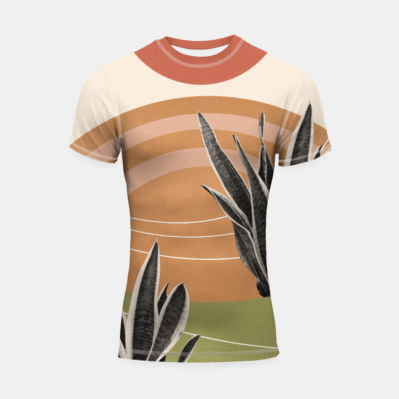 Image of Snake Plant in the Desert #1 #tropical #wall #art  Shortsleeve rashguard - Live Heroes