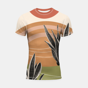 Thumbnail image of Snake Plant in the Desert #1 #tropical #wall #art  Shortsleeve rashguard, Live Heroes