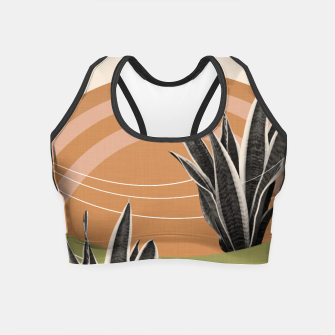Thumbnail image of Snake Plant in the Desert #1 #tropical #wall #art  Crop Top, Live Heroes