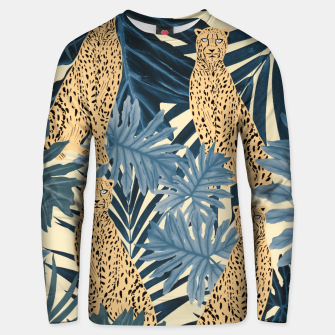 Summer Cheetah Jungle Vibes #1 #tropical #decor #art  Unisex sweatshirt thumbnail image