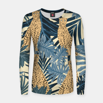 Thumbnail image of Summer Cheetah Jungle Vibes #1 #tropical #decor #art  Frauen sweatshirt, Live Heroes