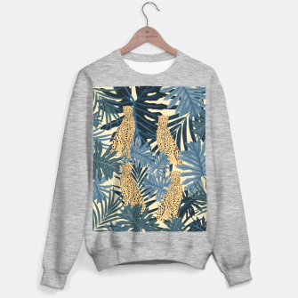 Thumbnail image of Summer Cheetah Jungle Vibes #1 #tropical #decor #art  Sweatshirt regulär, Live Heroes