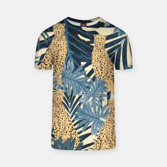 Summer Cheetah Jungle Vibes #1 #tropical #decor #art  T-Shirt thumbnail image