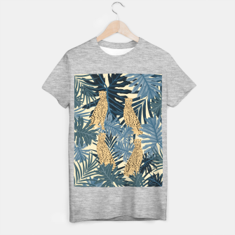 Thumbnail image of Summer Cheetah Jungle Vibes #1 #tropical #decor #art  T-Shirt regulär, Live Heroes