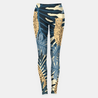 Summer Cheetah Jungle Vibes #1 #tropical #decor #art  Leggings thumbnail image