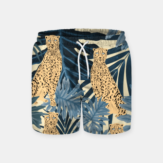 Summer Cheetah Jungle Vibes #1 #tropical #decor #art  Badeshorts thumbnail image