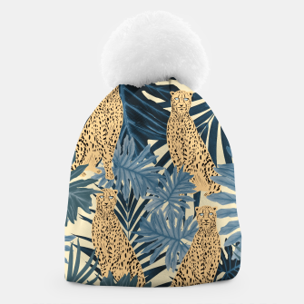 Thumbnail image of Summer Cheetah Jungle Vibes #1 #tropical #decor #art  Mütze, Live Heroes