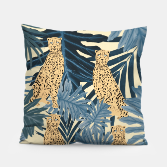 Thumbnail image of Summer Cheetah Jungle Vibes #1 #tropical #decor #art  Kissen, Live Heroes