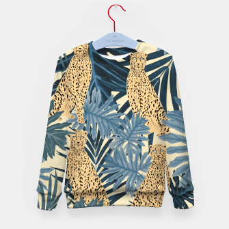 Thumbnail image of Summer Cheetah Jungle Vibes #1 #tropical #decor #art  Kindersweatshirt, Live Heroes