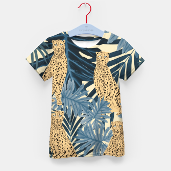 Thumbnail image of Summer Cheetah Jungle Vibes #1 #tropical #decor #art  T-Shirt für kinder, Live Heroes