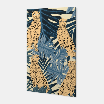 Summer Cheetah Jungle Vibes #1 #tropical #decor #art  Canvas thumbnail image