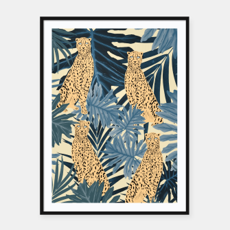 Thumbnail image of Summer Cheetah Jungle Vibes #1 #tropical #decor #art  Plakat mit rahmen, Live Heroes