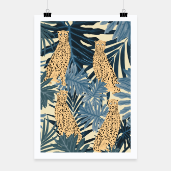 Thumbnail image of Summer Cheetah Jungle Vibes #1 #tropical #decor #art  Plakat, Live Heroes