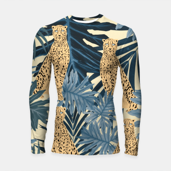Thumbnail image of Summer Cheetah Jungle Vibes #1 #tropical #decor #art  Longsleeve rashguard, Live Heroes