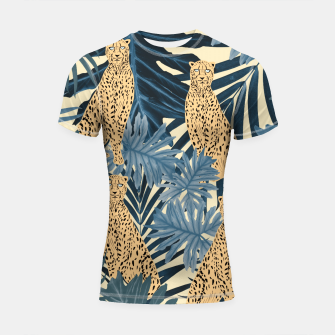 Thumbnail image of Summer Cheetah Jungle Vibes #1 #tropical #decor #art  Shortsleeve rashguard, Live Heroes