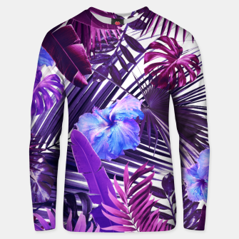 Thumbnail image of Tropical Hibiscus Flower Jungle Pattern #2 #tropical #decor #art  Unisex sweatshirt, Live Heroes