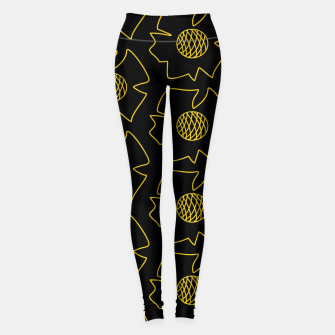 Miniature de image de Black flowers Leggings, Live Heroes