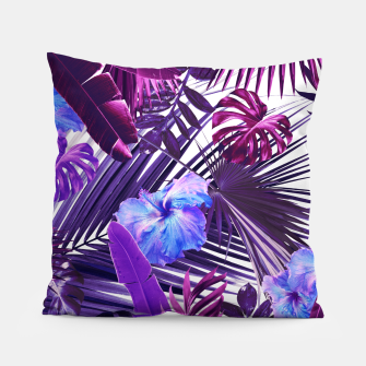 Tropical Hibiscus Flower Jungle Pattern #2 #tropical #decor #art  Kissen thumbnail image
