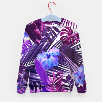 Tropical Hibiscus Flower Jungle Pattern #2 #tropical #decor #art  Kindersweatshirt thumbnail image