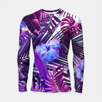 Tropical Hibiscus Flower Jungle Pattern #2 #tropical #decor #art  Longsleeve rashguard thumbnail image