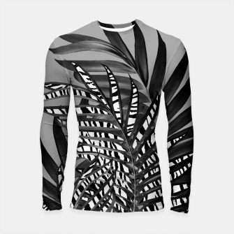 Thumbnail image of Palm Leaves with Tiger Stripe Glam #1 #tropical #decor #art  Longsleeve rashguard, Live Heroes