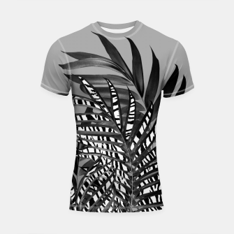 Thumbnail image of Palm Leaves with Tiger Stripe Glam #1 #tropical #decor #art  Shortsleeve rashguard, Live Heroes
