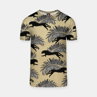 Miniature de image de Black Panther Palm Glitter Glam #1 #tropical #decor #art  T-Shirt, Live Heroes