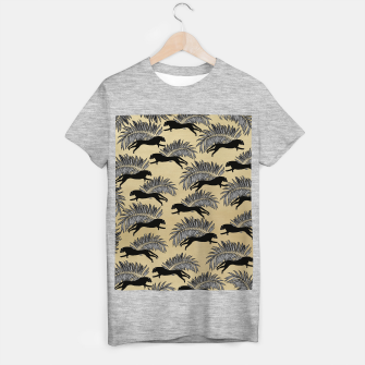 Miniature de image de Black Panther Palm Glitter Glam #1 #tropical #decor #art  T-Shirt regulär, Live Heroes
