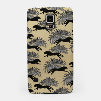 Miniature de image de Black Panther Palm Glitter Glam #1 #tropical #decor #art  Handyhülle für Samsung, Live Heroes