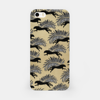 Miniature de image de Black Panther Palm Glitter Glam #1 #tropical #decor #art  iPhone-Hülle, Live Heroes