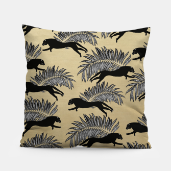 Miniature de image de Black Panther Palm Glitter Glam #1 #tropical #decor #art  Kissen, Live Heroes