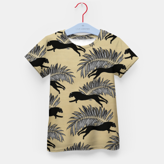 Miniature de image de Black Panther Palm Glitter Glam #1 #tropical #decor #art  T-Shirt für kinder, Live Heroes
