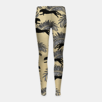 Miniature de image de Black Panther Palm Glitter Glam #1 #tropical #decor #art  Kinder-Leggins, Live Heroes
