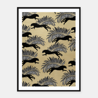 Miniature de image de Black Panther Palm Glitter Glam #1 #tropical #decor #art  Plakat mit rahmen, Live Heroes