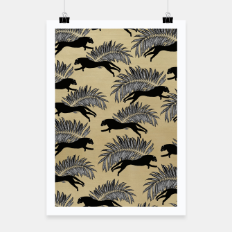 Miniature de image de Black Panther Palm Glitter Glam #1 #tropical #decor #art  Plakat, Live Heroes