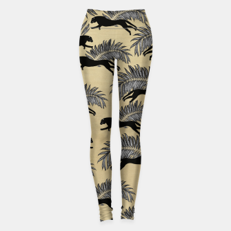 Miniature de image de Black Panther Palm Glitter Glam #1 #tropical #decor #art  Leggings, Live Heroes