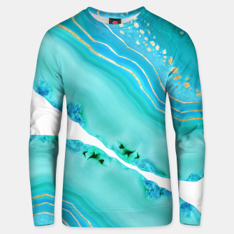 Thumbnail image of Soft Aqua Marine Gold Agate Glam #1 #gem #decor #art  Unisex sweatshirt, Live Heroes