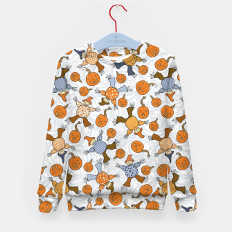 Thumbnail image of Tumbling Scarecrows Kid's sweater, Live Heroes