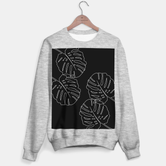 Thumbnail image of Monstera Leaves Finesse Line Art #3 #minimal #decor #art Sweatshirt regulär, Live Heroes