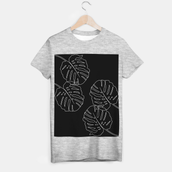 Thumbnail image of Monstera Leaves Finesse Line Art #3 #minimal #decor #art T-Shirt regulär, Live Heroes