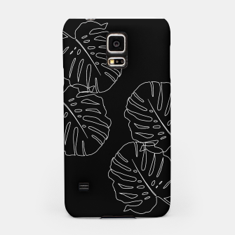 Thumbnail image of Monstera Leaves Finesse Line Art #3 #minimal #decor #art Handyhülle für Samsung, Live Heroes