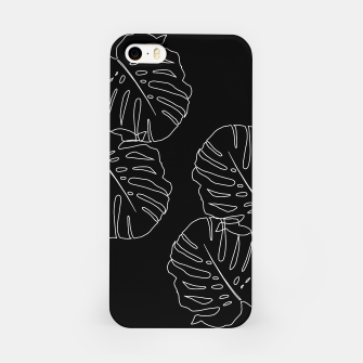 Thumbnail image of Monstera Leaves Finesse Line Art #3 #minimal #decor #art iPhone-Hülle, Live Heroes