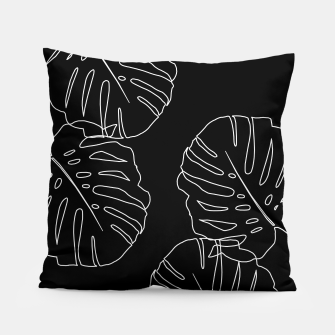 Thumbnail image of Monstera Leaves Finesse Line Art #3 #minimal #decor #art Kissen, Live Heroes