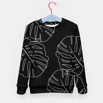 Thumbnail image of Monstera Leaves Finesse Line Art #3 #minimal #decor #art Kindersweatshirt, Live Heroes