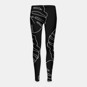 Thumbnail image of Monstera Leaves Finesse Line Art #3 #minimal #decor #art Kinder-Leggins, Live Heroes